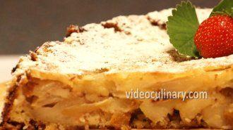 Easy Apple cake (Sharlotka) By VideoCulinary.com
