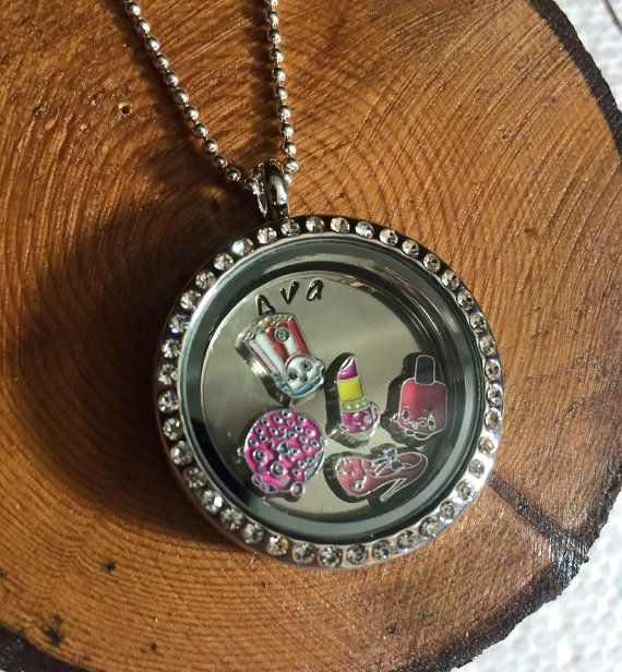 Shopkin Floating Locket Necklace by SharperDesignsStore on Etsy