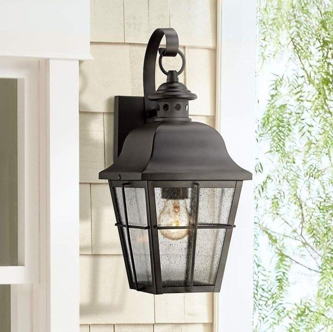Stunning Traditional Outdoor Lighting Design Ideas 05 Black Outdoor Wall Lights Wall Lights Outdoor Lighting Design