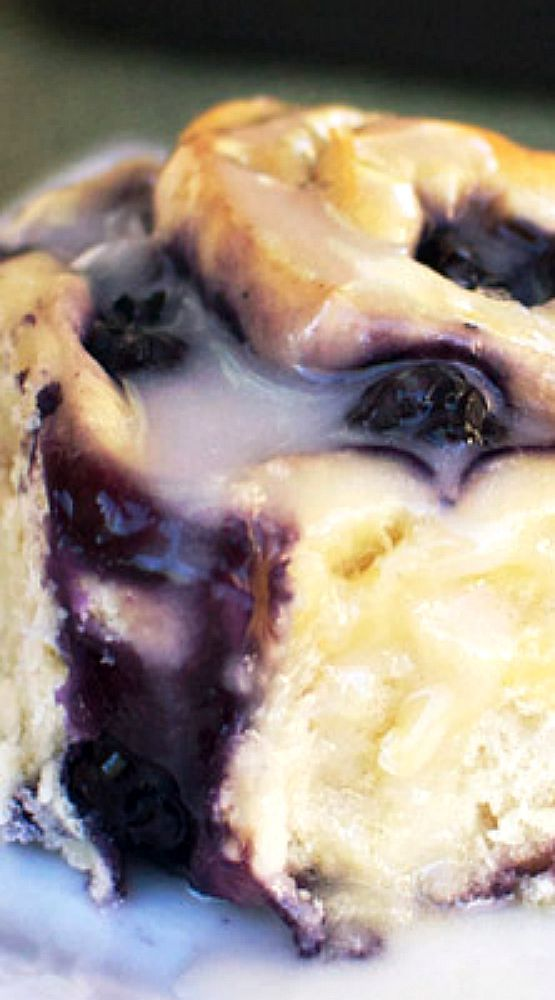 Blueberry Sweet Rolls.