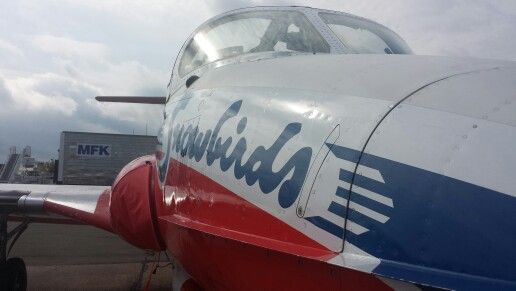 Canadian Snowbird jet Canadair CT-114 Tutor. Snapped by #thestripedleopard #airplanes #aviation