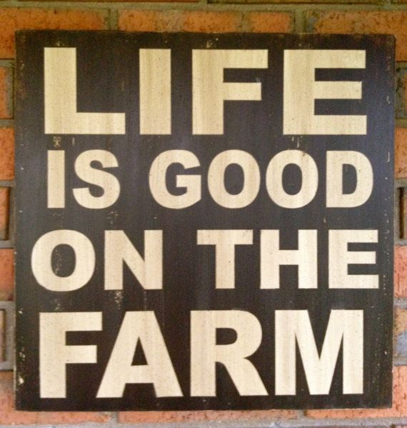 Country Home Decor Life is Good on the Farm by MemoryScapes, $36.00