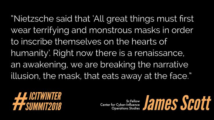 """Nietzsche said that """"All great things must first wear terrifying and monstrous masks in order to inscribe themselves on the hearts of humanity""""   """"Nietzsche said that """"All great things must first wear terrifying and monstrous masks in order to inscribe themselves on the hearts of humanity"""" #ideas #NewAgenda #newage #CyberAware #CyberActions #Cyberwar #CyberWarfare #SaturdayMotivation #inspirationalquotes #JamesScott #CCIOS #ICIT"""
