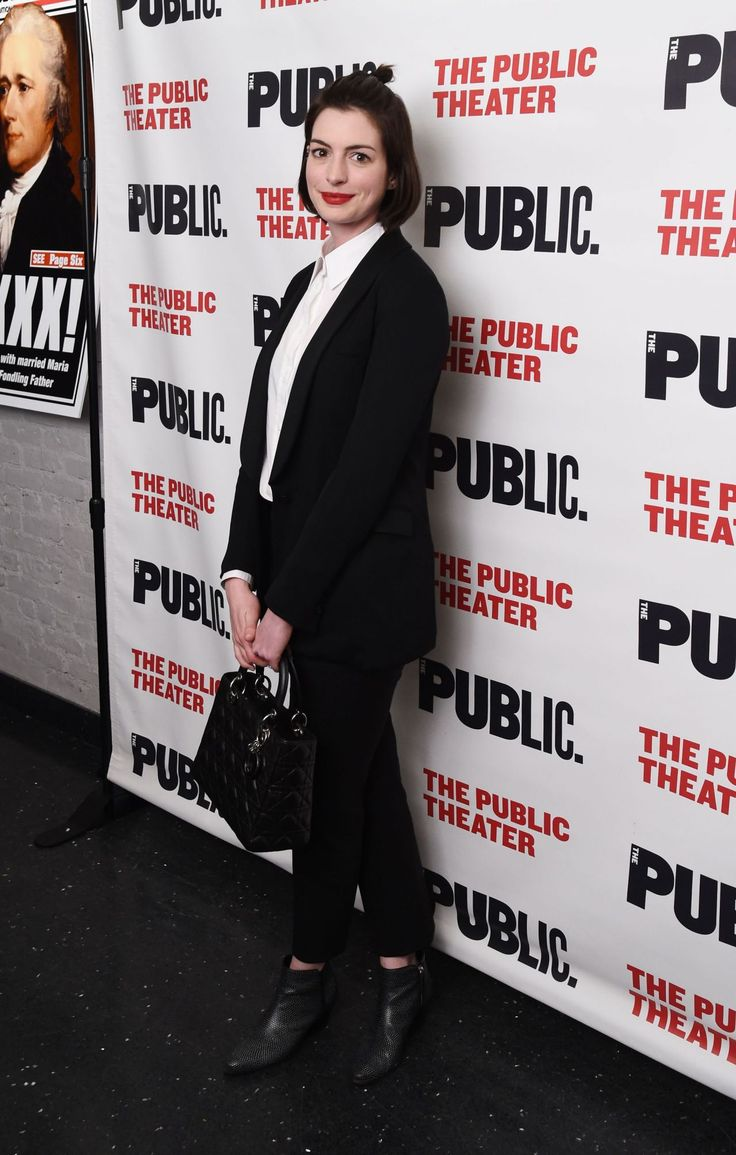 Anne Hathaway – The Public Theater's 'Josephine and I' Opening in New York City, March 2015