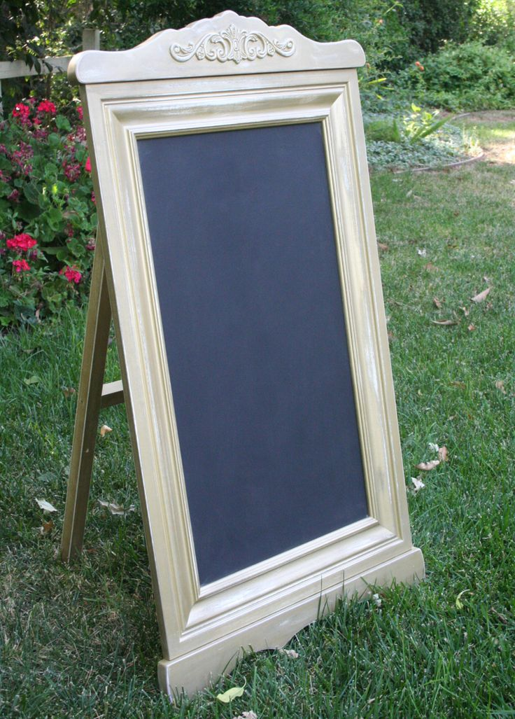 Chalk sandwich board sign. Custom built to order. One or double sided. Vintage inspired detailing. You choose your color and size. #shopsignage #weddingsignage