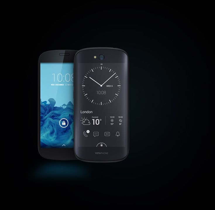 YotaPhone 2 - The backscreen's E-Ink display is now touch enabled, giving you access to a ton of great info without killing your battery life. Now that's progress! £555~$872US