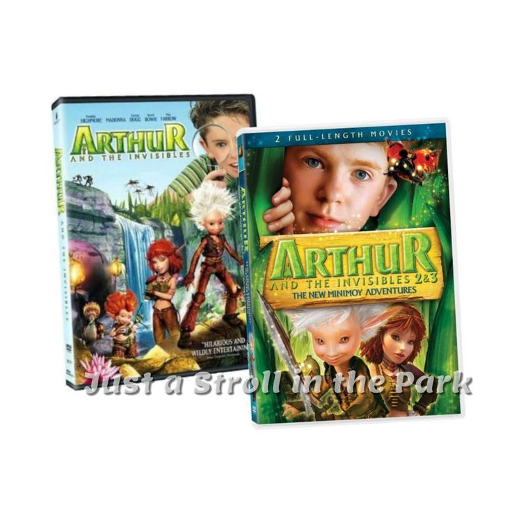 Arthur and the Invisibles: Complete Movie Series 1 2 3 Box / DVD Set(s) NEW!