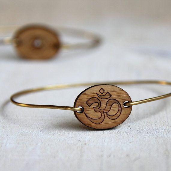 Om symbol bangle yoga jewelry bamboo bracelet
