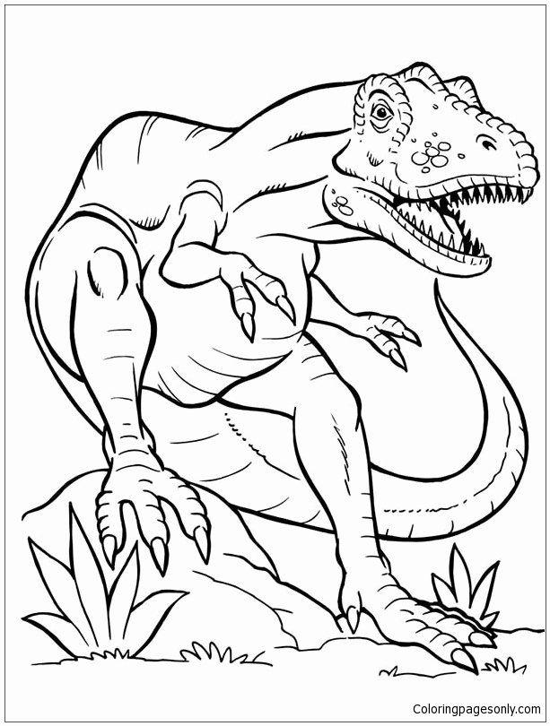 Tyrannosaurus Rex Coloring Pictures Unique Terrifying Dinosaurus T Rex Coloring Page Free Coloring Dinosaur Coloring Pages Animal Coloring Pages Coloring Pages