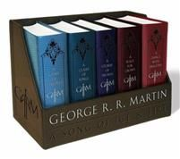 George R. R. Martin's a Game of Thrones Leather-Cloth Boxed Set (Song of Ice and Fire Series): A Game of Thrones, a Clash of Kings, a Storm of Swords,