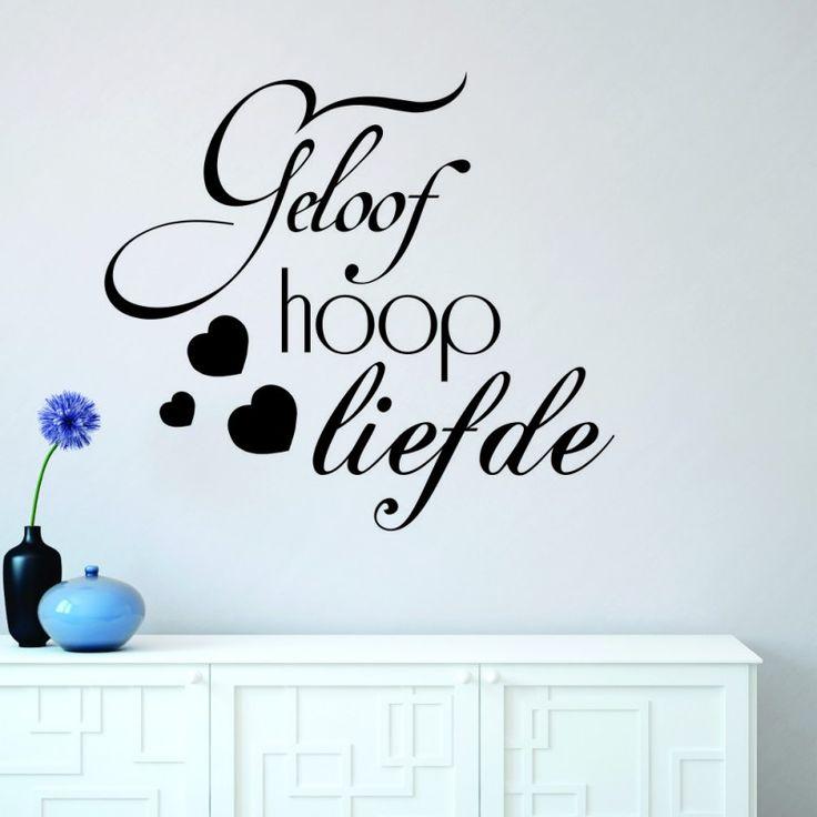 Vinyl Wall Decal | Geloof Hoop Liefde