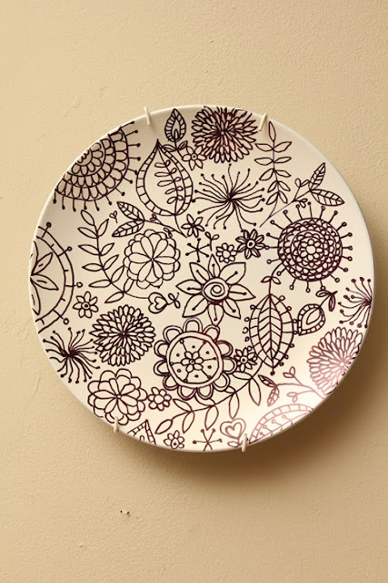 Sharpie Plates - could be done with colored sharpies too