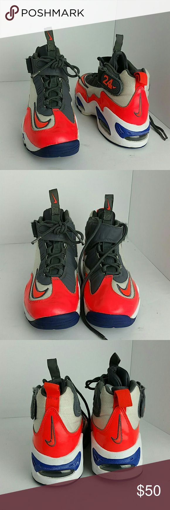 NIKE AIR GRIFFEY MAX 1 WOMEN/YOUTH SHOES IN GOOD CONDITION   THIS IS A YOUTH SIZE 7Y WHICH IS WOMEN SIZE 8.5  SKE # KU4 NIKE Shoes Athletic Shoes
