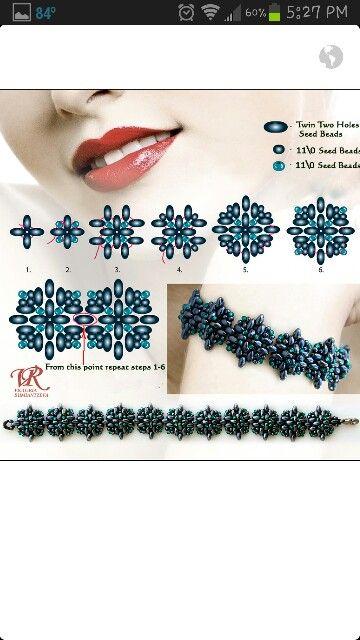 Bijuterias feitas apenas com lindas miçangas, linha e seus acabamentos. Idéias…