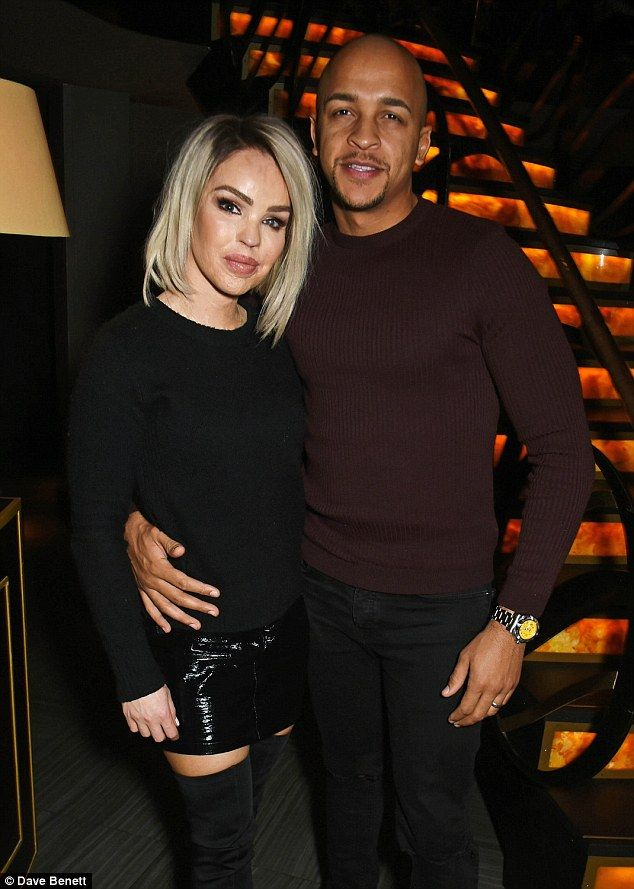 Happy couple: Katie Piper attended a Rebecca Ferguson private gig at Quaglino's in London on Tuesday alongside her husband Richard Sutton