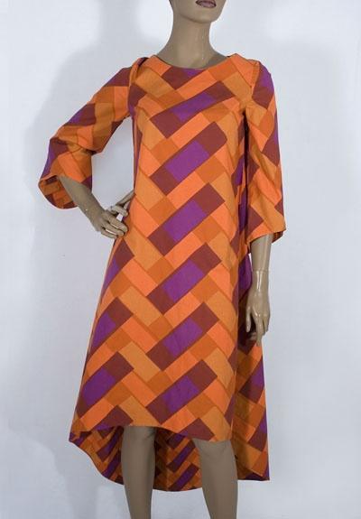 Marimekko cotton print dress, c.1969, from the Vintage Textile archives.