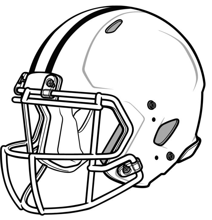 Football helmet pictures to color