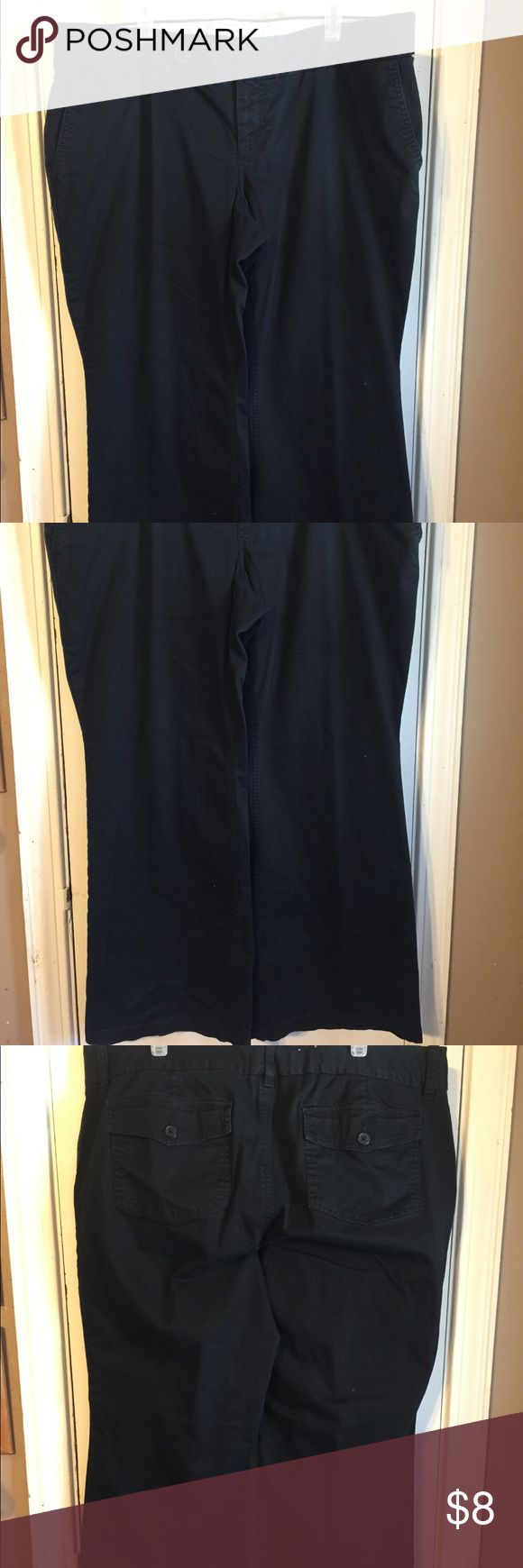 Khaki pants by Old Navy size 20 From on line plus size black khakis cotton spandex in very good condition Old Navy Pants Trousers