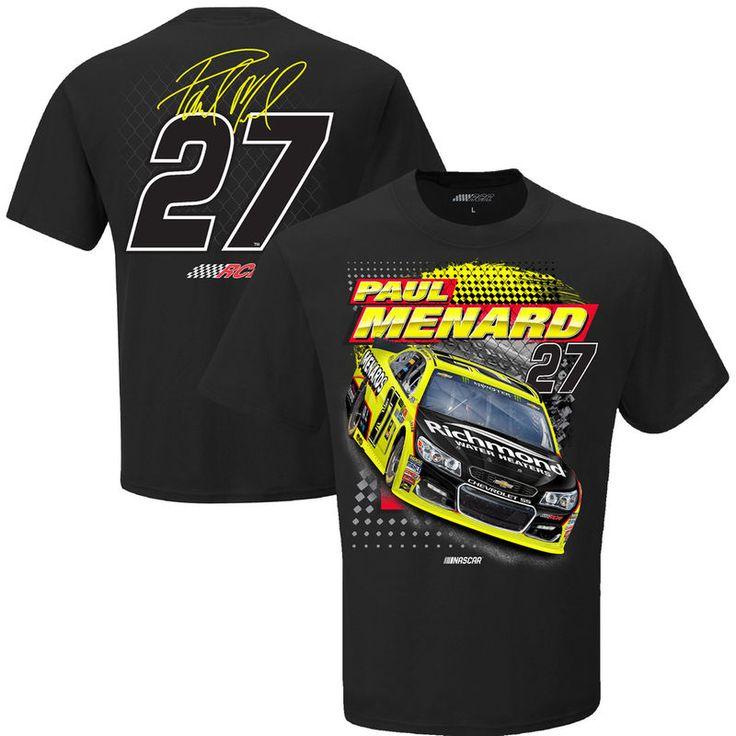 Paul Menard Checkered Flag Spoiler T-Shirt - Black