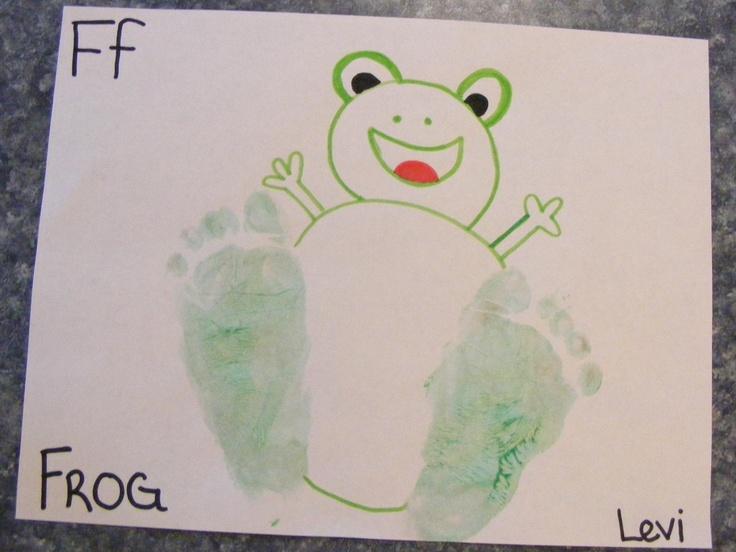 Frog craft, Letter F, F, feet,