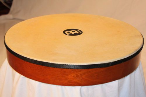 "Meinl Percussion 16"" African Brown Hand Drum Rubber Wood Goatskin Head HD16AB 