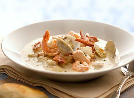 Fairmont Seafood Chowder (white wine)