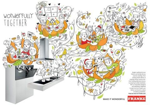 Franke Illustration by Amaia Arrazola. Make it Wonderful 1.