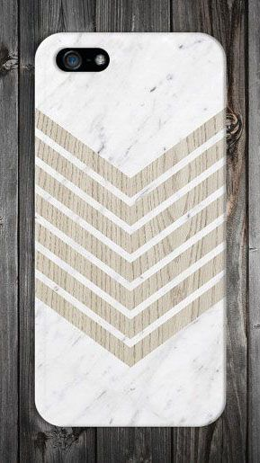 White Marble x Geometric Chevron Wood Design Case for iPhone 6 6 Plus iPhone 5 5s 5c 4 4s Samsung Galaxy s6 s5 s4 & s3 and Note 5 4 3 2
