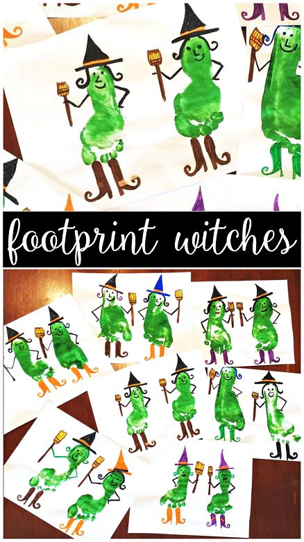 Footprint Witch Craft for Halloween (Cute kids art project) - Crafty Morning