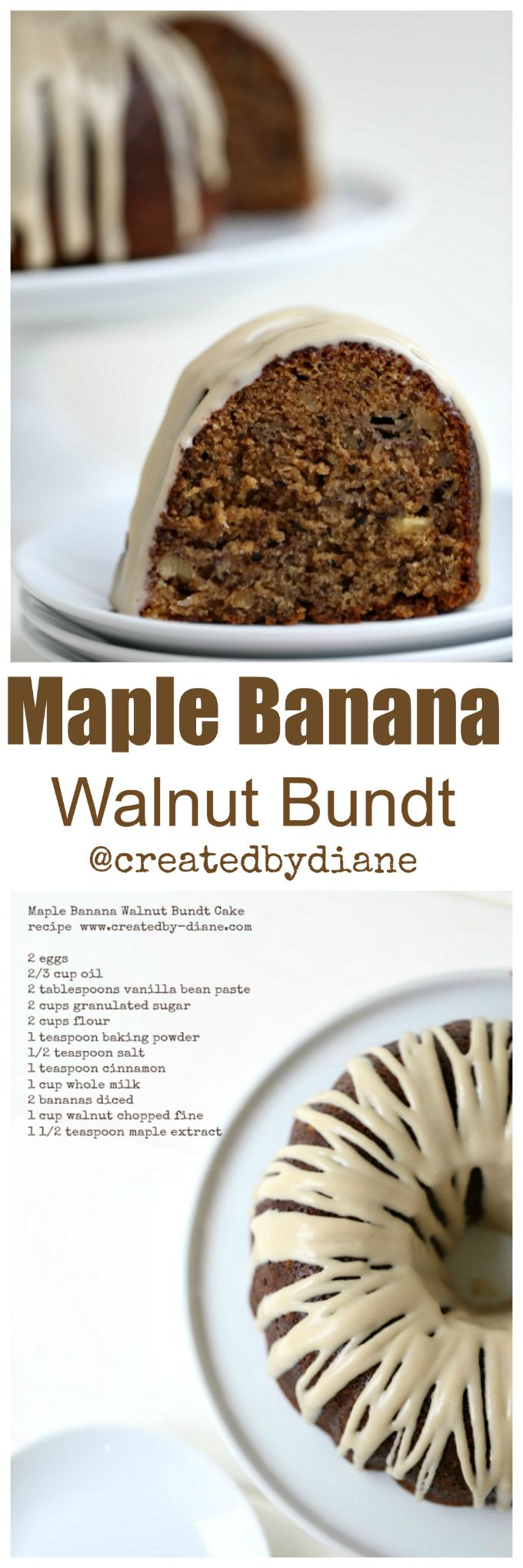 this is not your ordinary banana cake, this cake is full of maple flavor that will know your socks off it's so yummy.