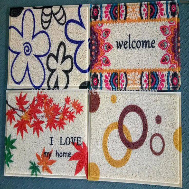 hot sale multi colors customized anti slip pvc floor mat doormat with printing