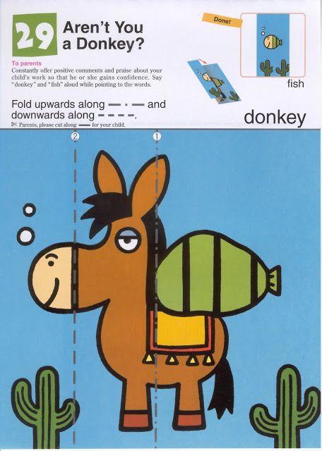 Vouw de ezel tot een vis