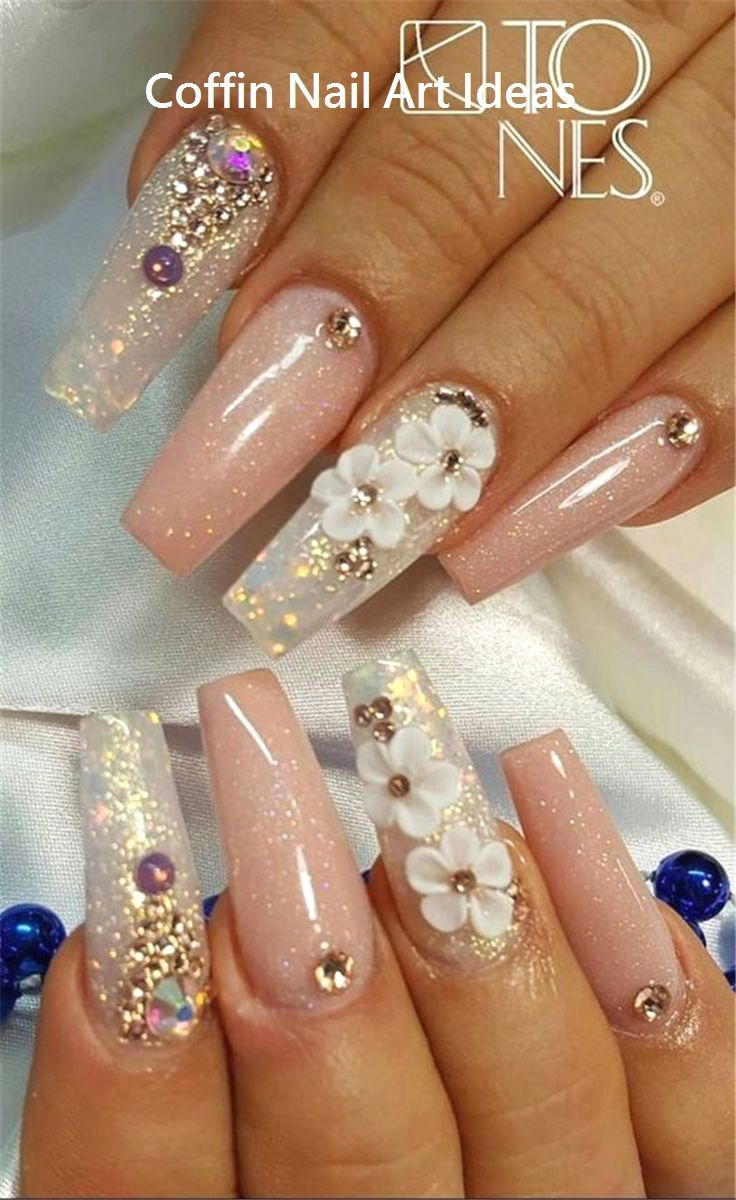 20 Trendy Coffin Nail Art Designs 2 With Images Coffin Nails