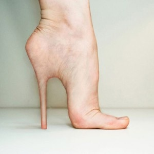 Showing you your foot isn't made to be in high heels! lol This is DISGUSTING looking!!!! yuck