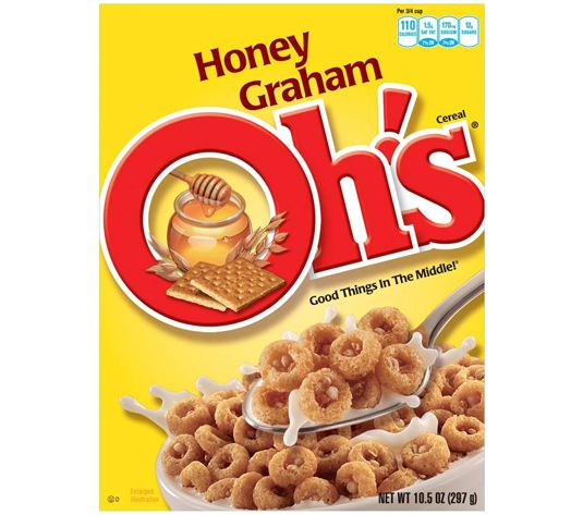 Worst Cold Cereals: Quaker Cereal - Oh!s Cereal; artificial flavors and 5 different sugars!