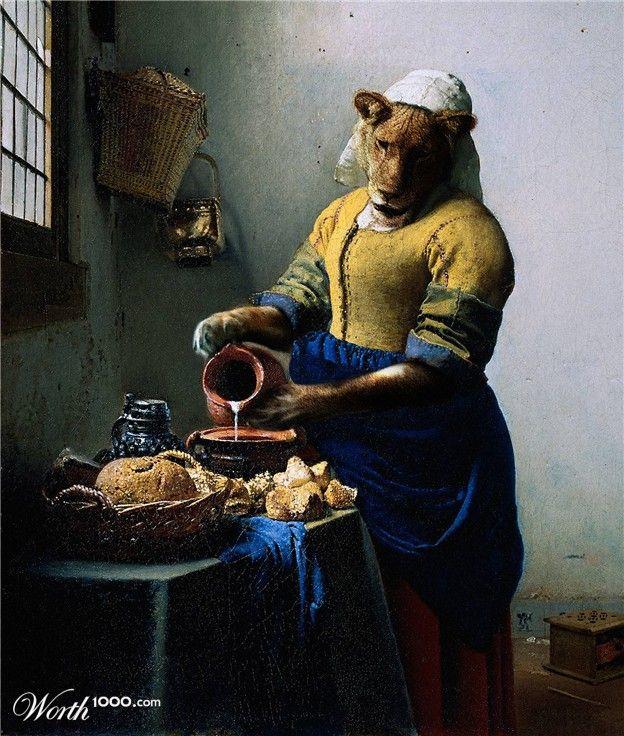 Animal Renaissance 9 - Worth1000 Contests.       The Kitchen lion