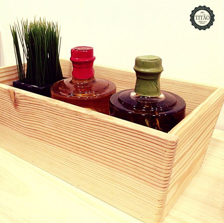 Wood pine basket