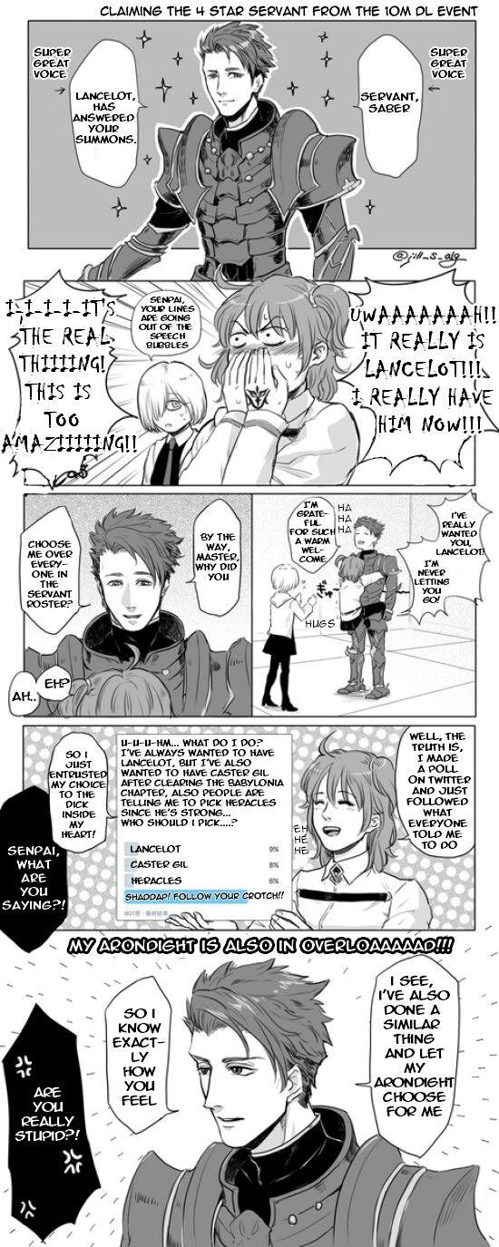 Gudako and Lancelot's similarities | aFate Comic | Fate zero, Fate