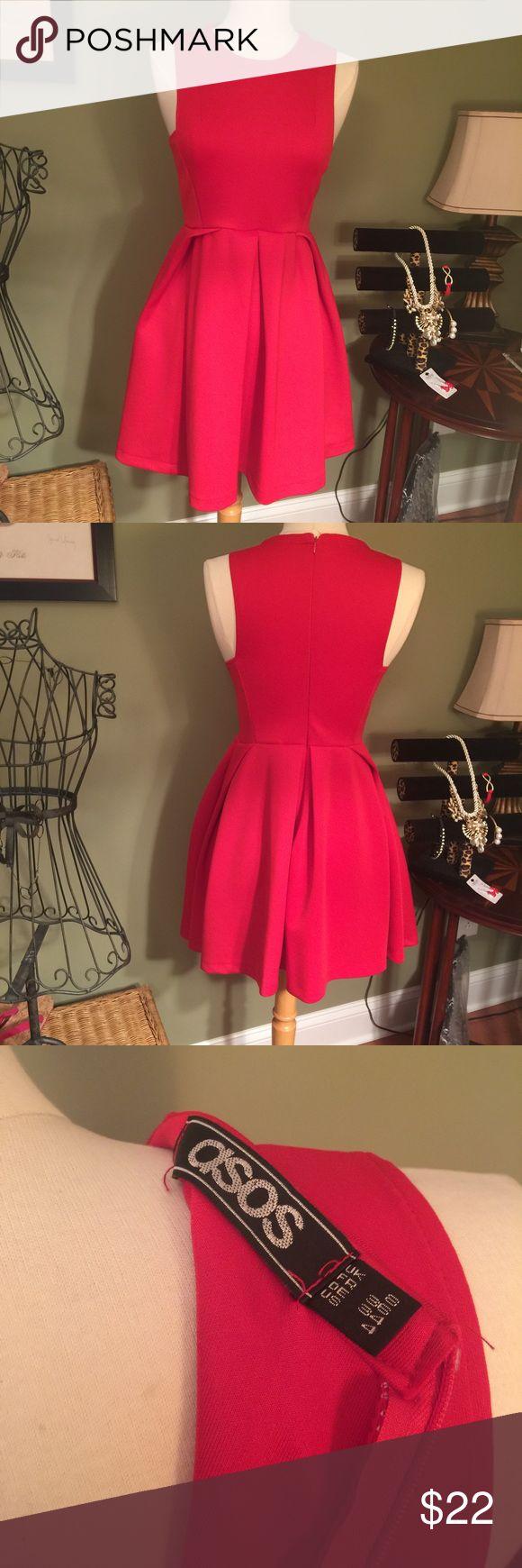 Fabulous New Red Dress Size 4 💃💃 So beautiful NEW Asos red dress.  Size 4. ASOS Dresses Midi