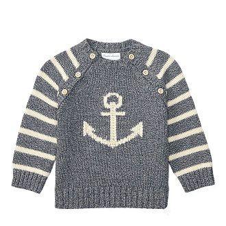 Baby Boy - Intarsia-Knit Cotton Sweater