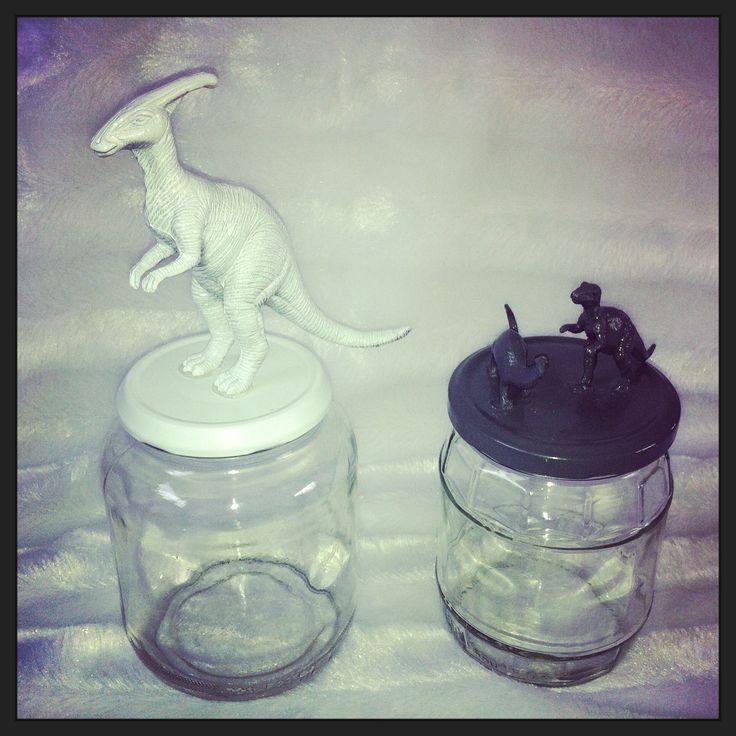 DIY glazen pot met figuur (by LeukWoonSpul!)