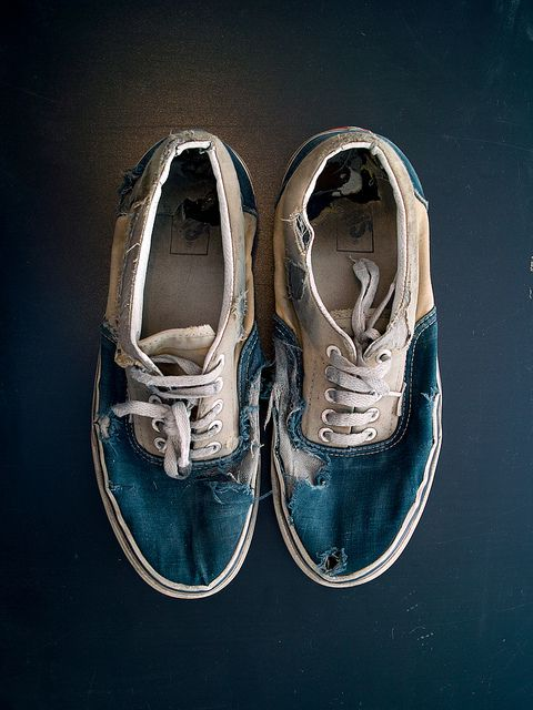 Vans Authentic Worn Out Worn Out Vans Tumblr V...