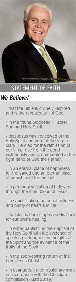 Jesse Duplantis Ministries Statement of Faith