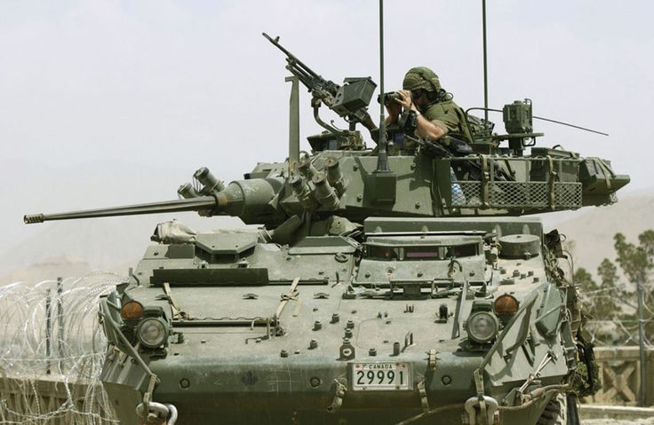 LAV IIIs are equipped with multiple weapons.