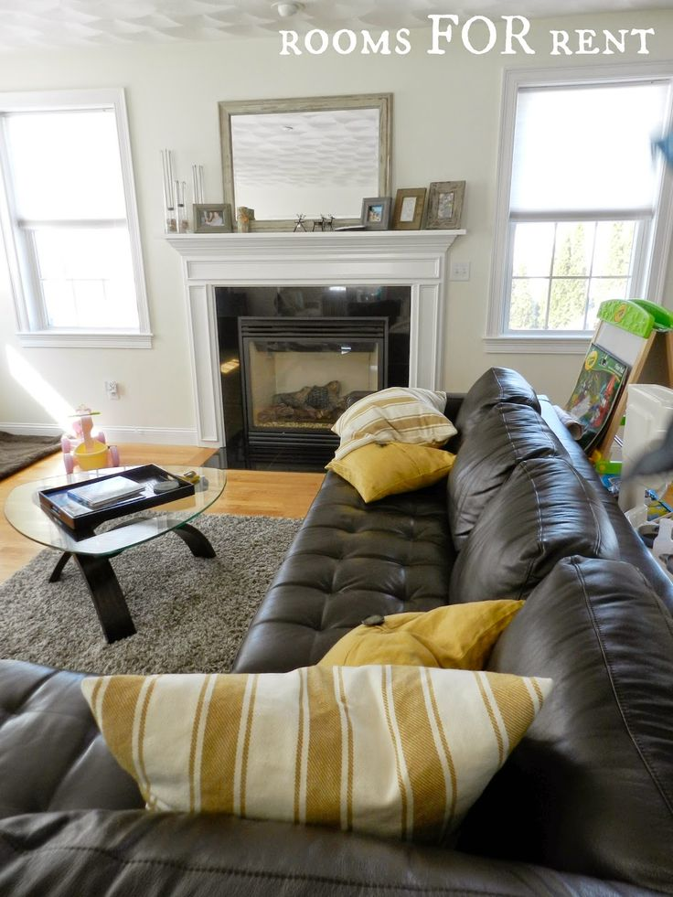 Best 25+ Leather couch decorating ideas on Pinterest ...