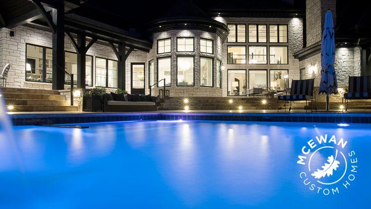 Swimming in a pool of luxury l McEwan Custom Homes  #mcewancustomhomes #craveturemedia #pool #mediterranean #poolhouse #utah #utahhomes #smalldetailsbigdifference