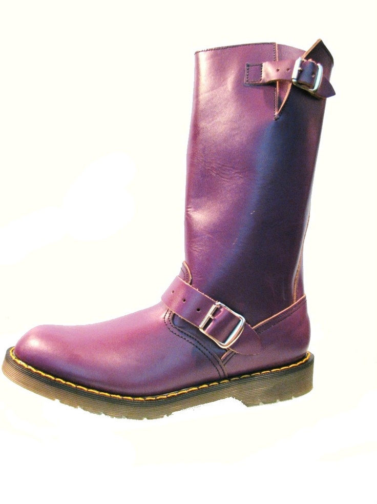 purple motorcycle boots