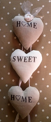 Very pretty fabric hearts with a saying that is always heartfelt!