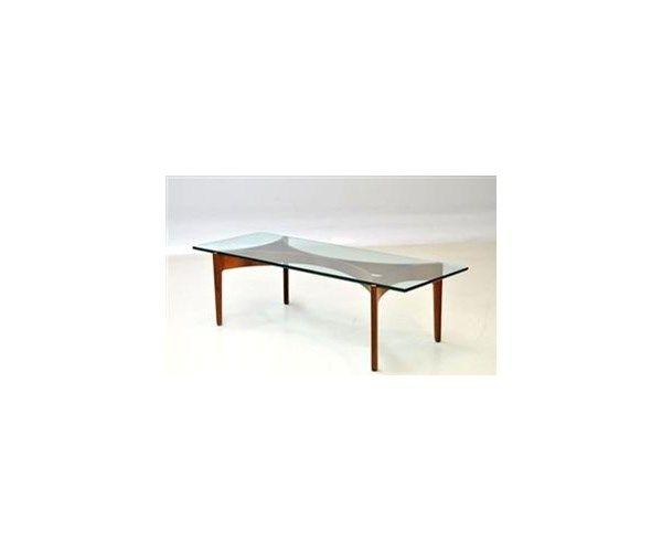 Sofabord, Svend   Ellekær, glas, b: 60 l: 160 h: 46, Flot