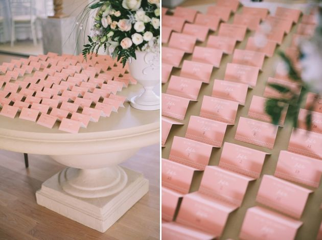 Peach Inspired Escort Cards for a Wedding In Messinia - Greece, by Stella & Moscha -Photography: Thanos Asfis